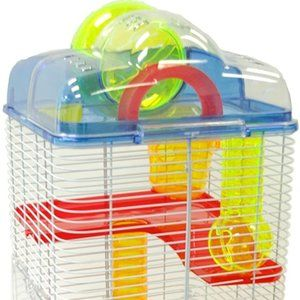 YML 3 Level Clear Plastic Dwarf Hamster, Mice Cage